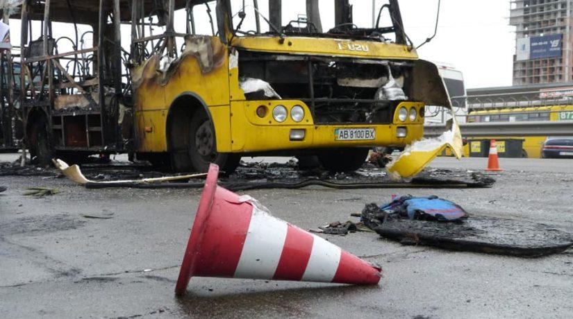 Возле станции метро «Лесная» сгорела маршрутка