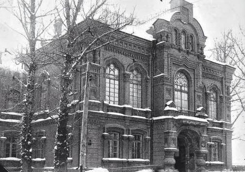 Пятая (Печерская) гимназия, сейчас ул. Омеляновича-Павленко, 1, здание Национального транспортного университета