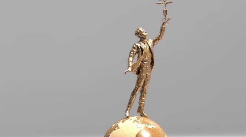 Скульптуру Игоря Сикорского создают с помощью 3D-принтера