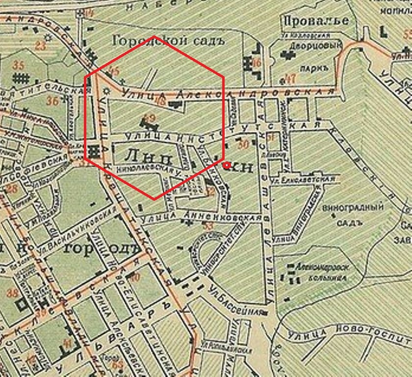 Фото 3. Фрагмент плана города Киева. 1900 год