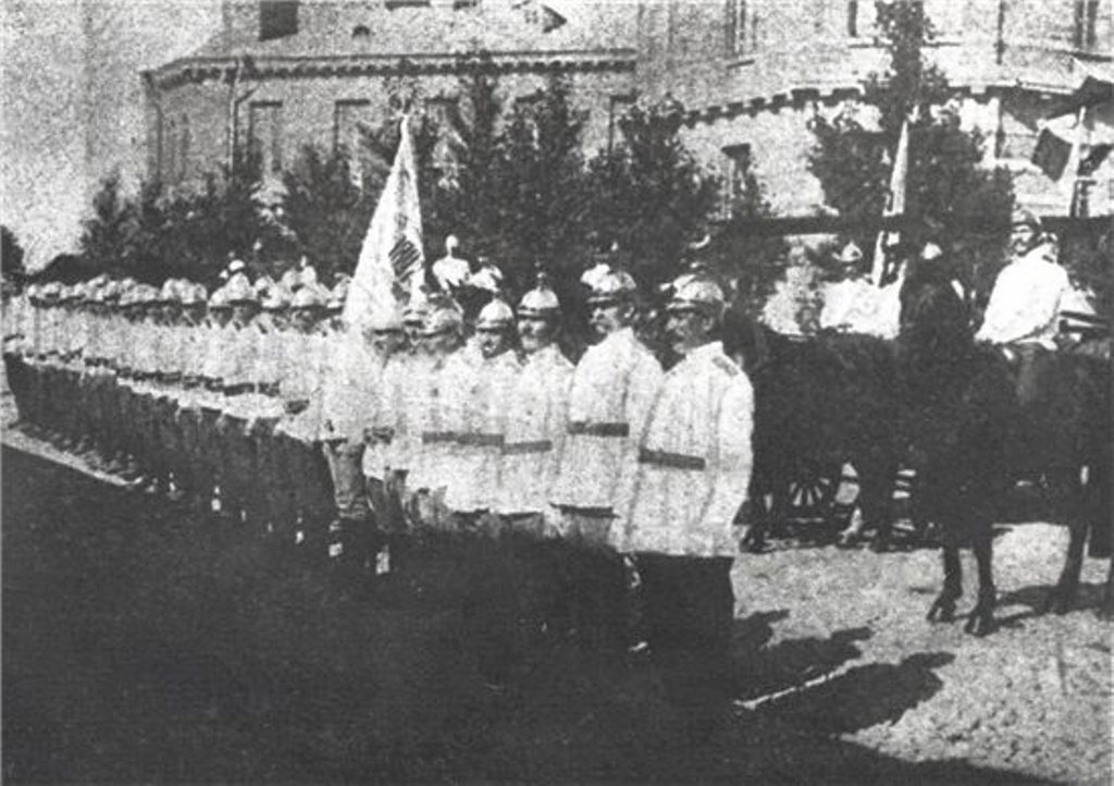 Традиционный парад дружины Киевского Вольного пожарного общества