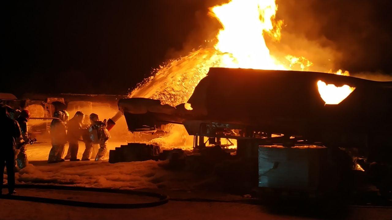 пожар, нефтебаза