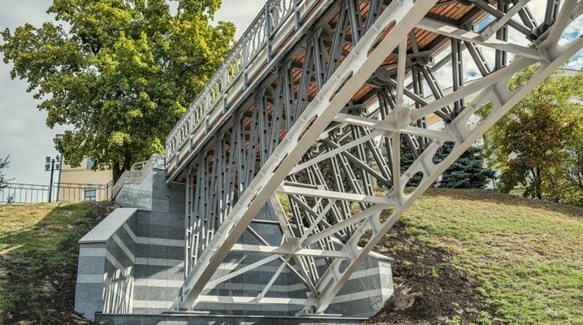 пешеходный мост, ул Институтская