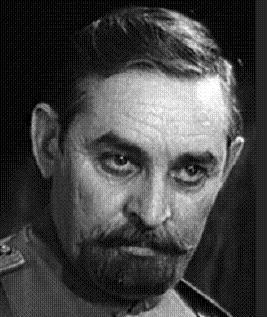 Кадр из х/ф «Адъютант Его Превосходительства»: полковник Щукин. Прототипу героя, начальнику деникинской контрразведки Л. Д. Щучкину пришлось немало потрудиться