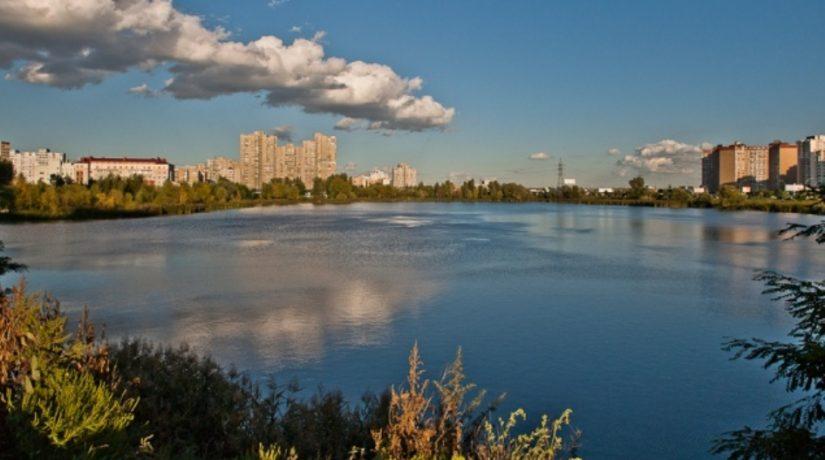 Озеро Лебединое Киев