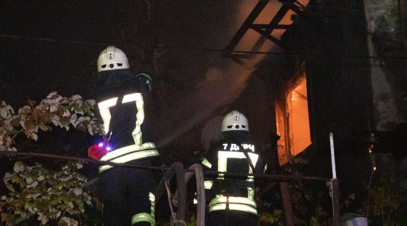 пожар, дом