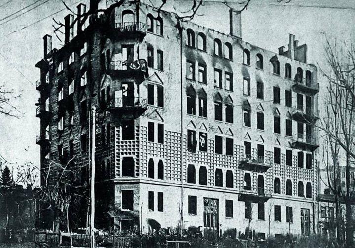 Дом – жертва большевистского обстрела