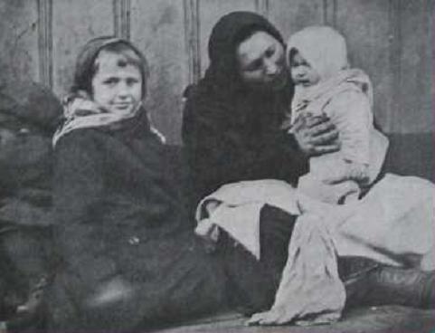 Беженка с детьми
