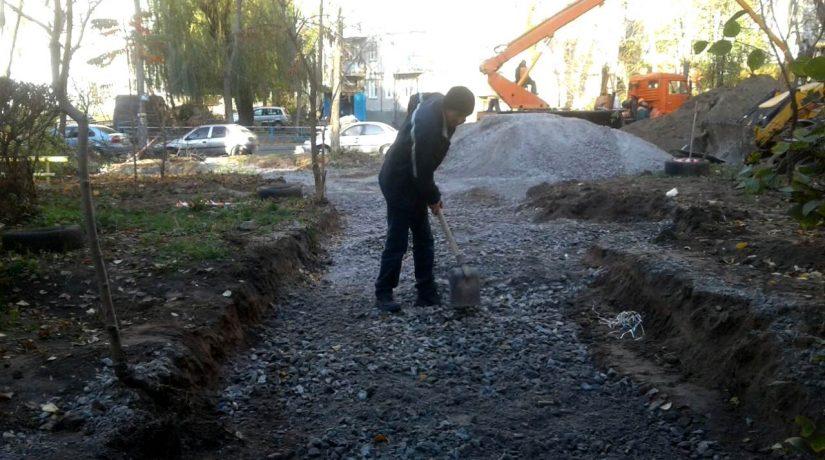 Начался капитальный ремонт сквера на улице Глинки