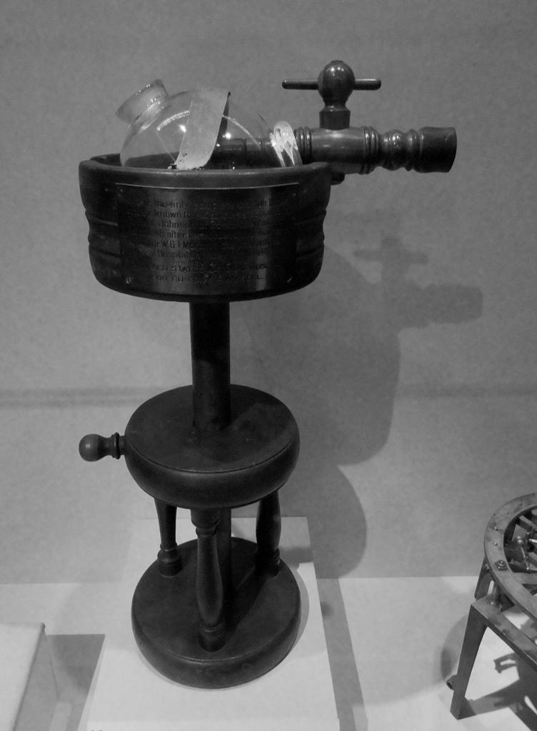 Эфирный ингалятор Мортона, 1846 год