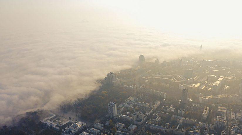 Туман смог Киев