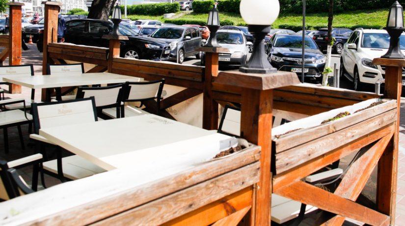 ресторан, летняя площадка