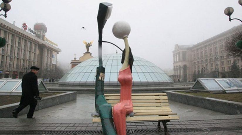 Автор влюбленных фонарей на Майдане показал свою новую работу