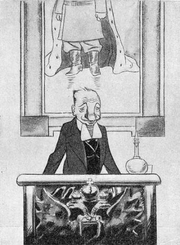 В. Шульгин, карикатура Б. Ефимова