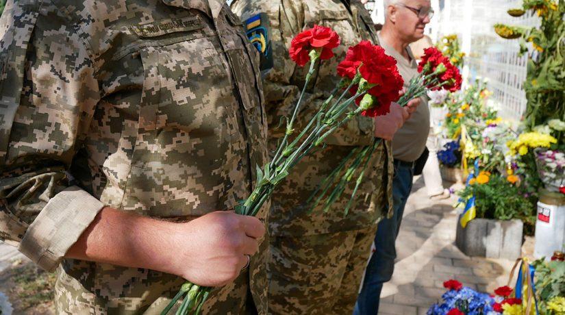 ветераны с цветами