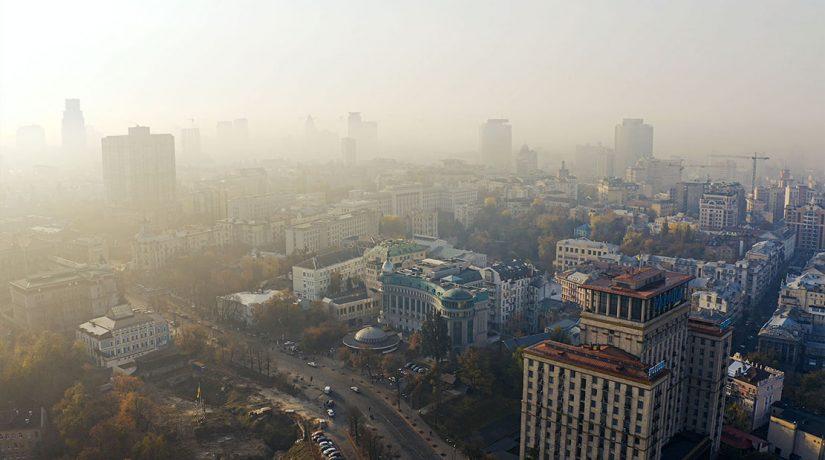 дымка, Киев, туман