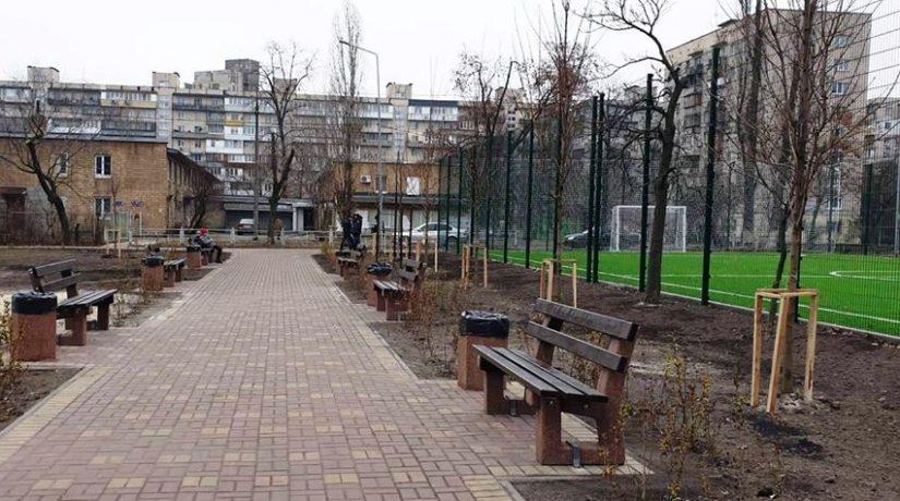 Новый сквер на Березняках – сакуры, клены, футбольное поле
