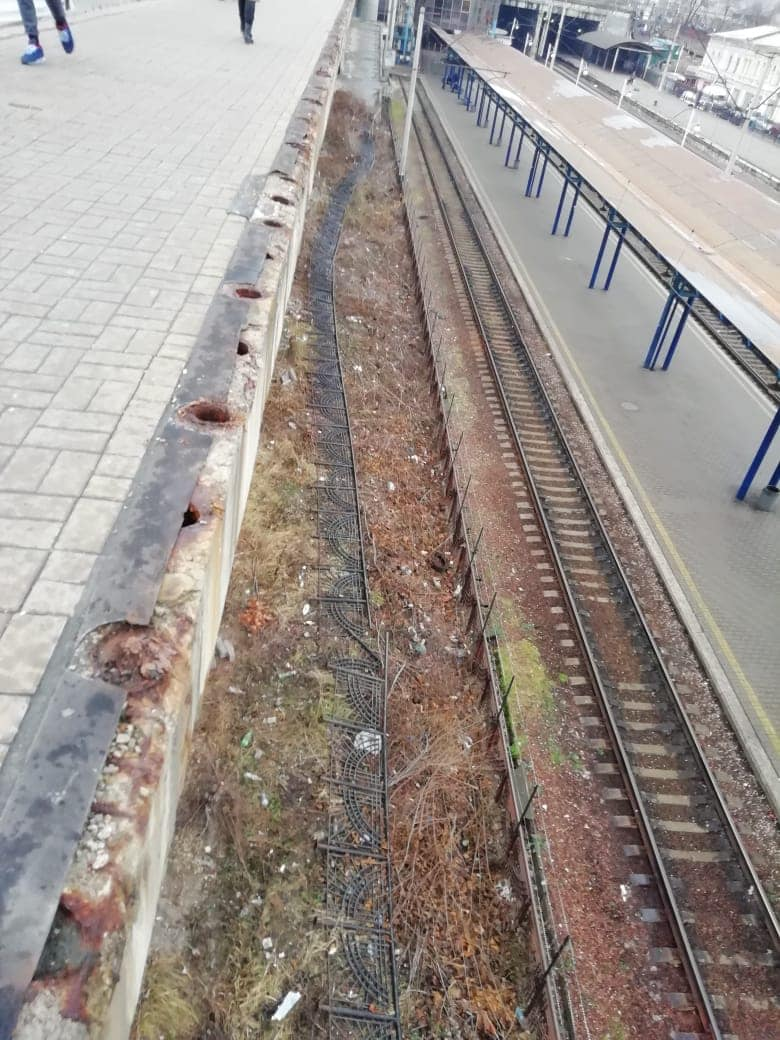 Обвал забор вокзал ограждение