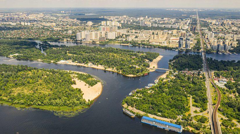 Границы Киева Гидропак Острова Киева