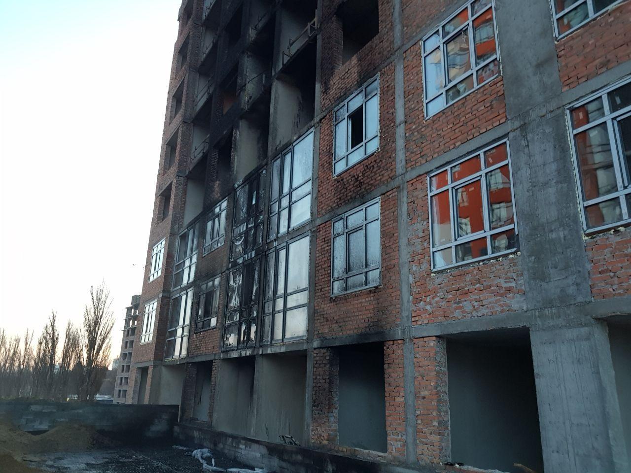 Пожар Бережанский ЖК