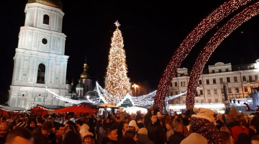 Главную елку страны зажгли на Софийской площади. Оцените красоту ее огней