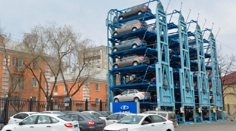 роторная парковка