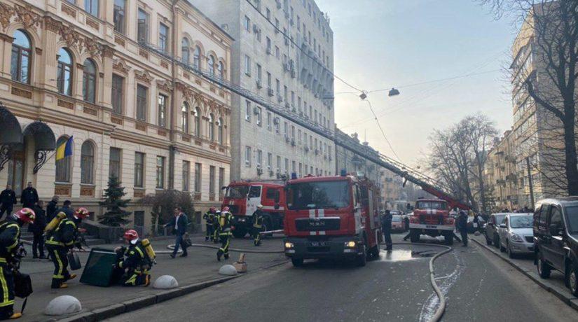 «Культуру» эвакуировали – в Киеве горело министерство