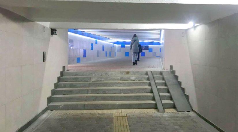 Вышли на новый уровень: подземный переход на Соломенке оснастили видеокамерами