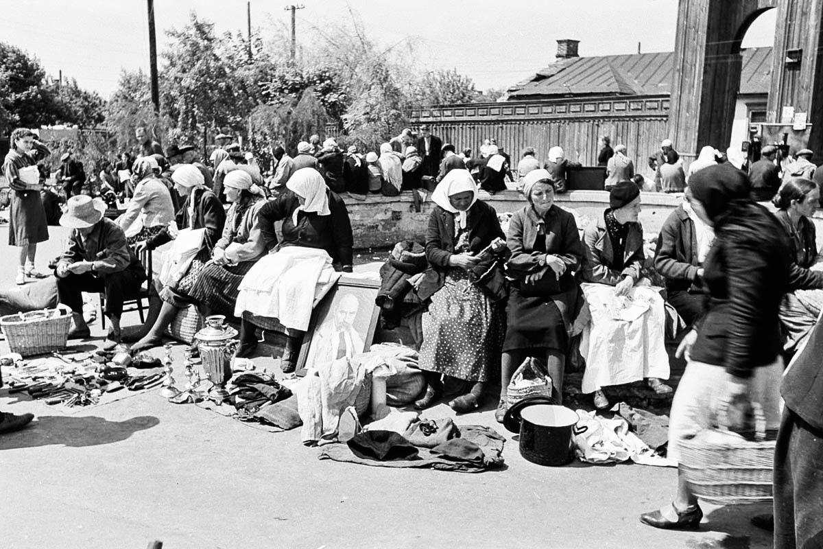 Подпись ALT: Галицкий базар – оккупированный Киев – Холокост