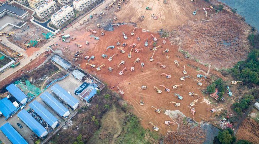 Больницу в Китае построят за 6 дней. Это на 280 дней быстрее, чем строили Шулявский мост