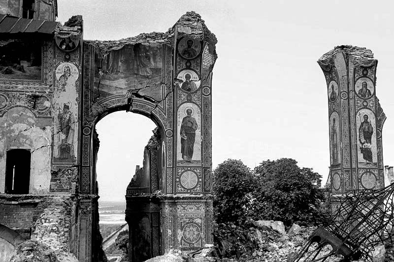 Разрушенный Успенский собор – оккупация Киева - Холокост