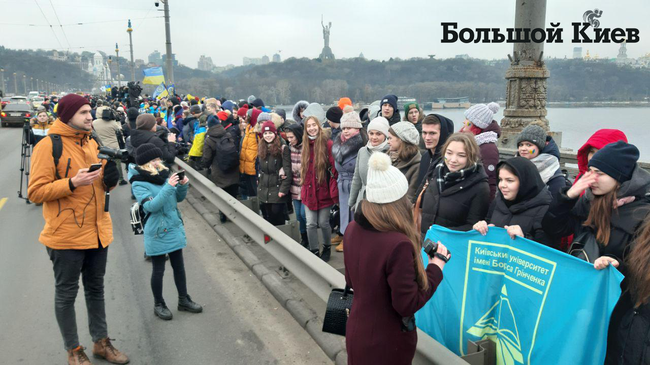 Живая цепь Соборности Киев-2020