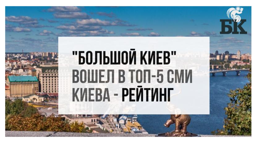 """""""Большой Киев"""" вошел в ТОП-5 СМИ Киева – рейтинг"""