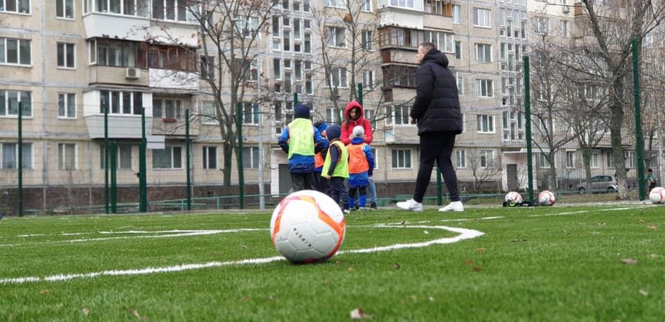футбольное поле, Березняки