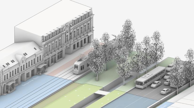 Перенос трамвая и доступ к реке Глубочице – проект Новых Валов на Подоле