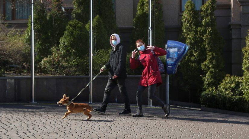 Киев карантин люди маска