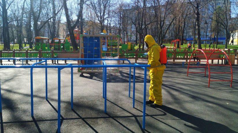 Дезинфекция Киев площадка коронавирус