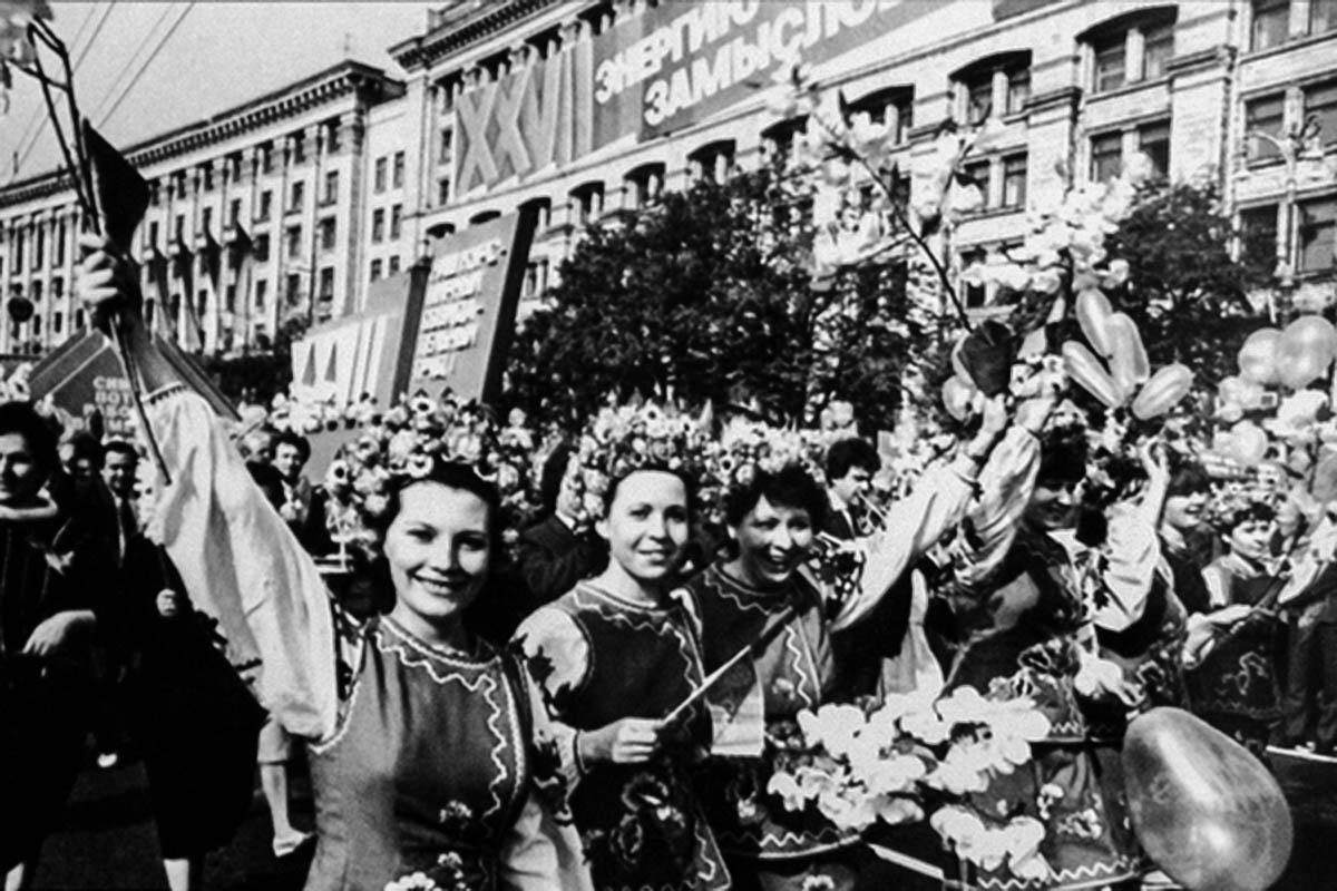 Першотравнева демонстрація у Києві 1986 рік – 1 травня 1986 рік – перше травня підся аварії на ЧАЕС – Чорнобильська аварія