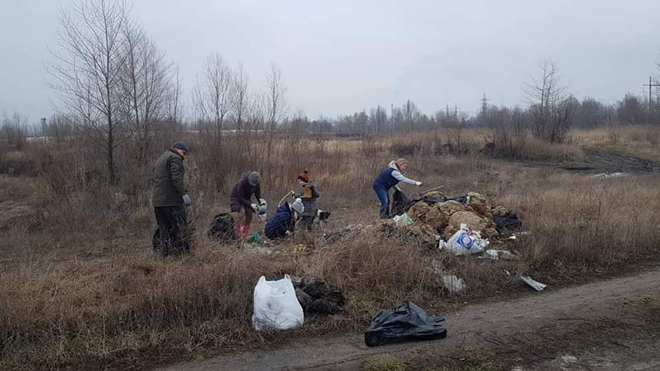 мусорный полигон, осокорковские луга
