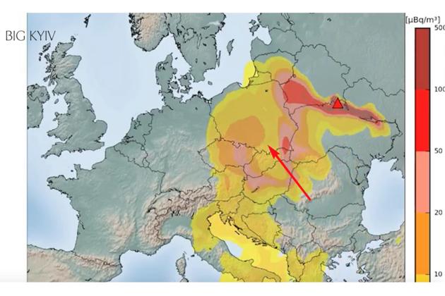 Хмара з Чорнобиля накрила всю Європу (КАРТА)