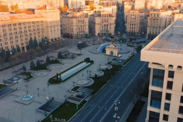 Спорожнілий Майдан Незалежності в ролику групи Queen на честь медиків