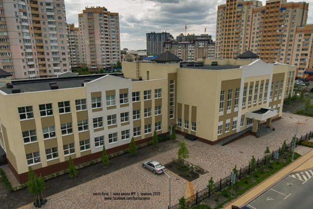 Стадіон та дитячий майданчик – як виглядає нова школа у Бучі (ФОТО)