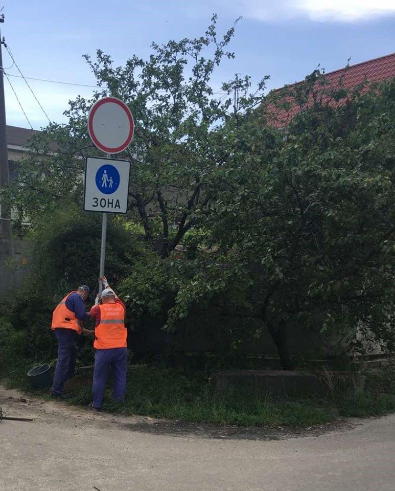 пішохідна зона, знак