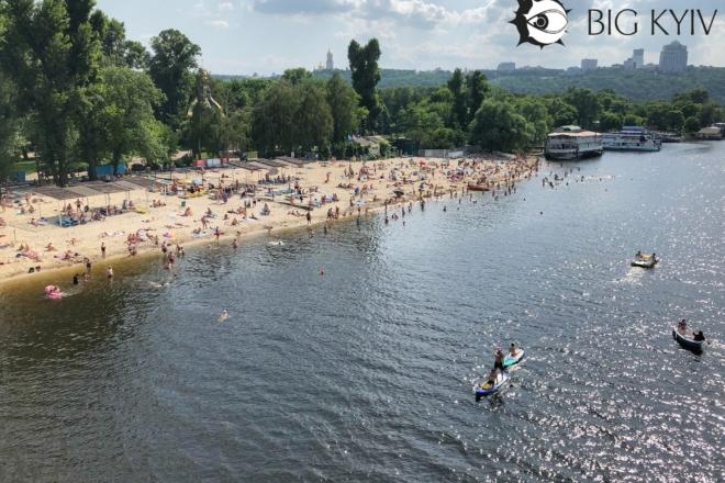 Чи можна купатися і засмагати на пляжах Києва