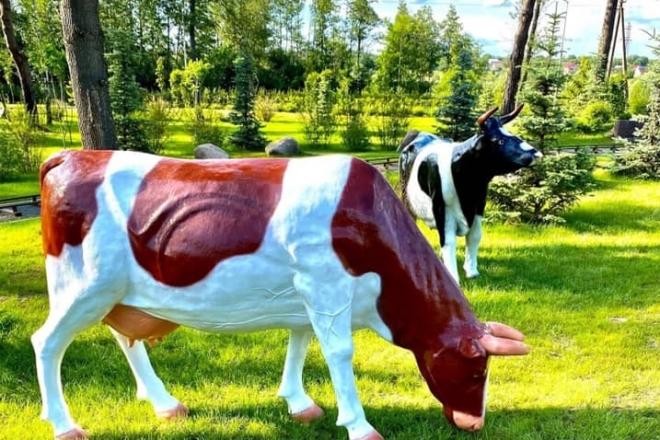"""Корови пасуться, кози мекають – у парку Бучі з'явилась """"сільська"""" фотозона"""