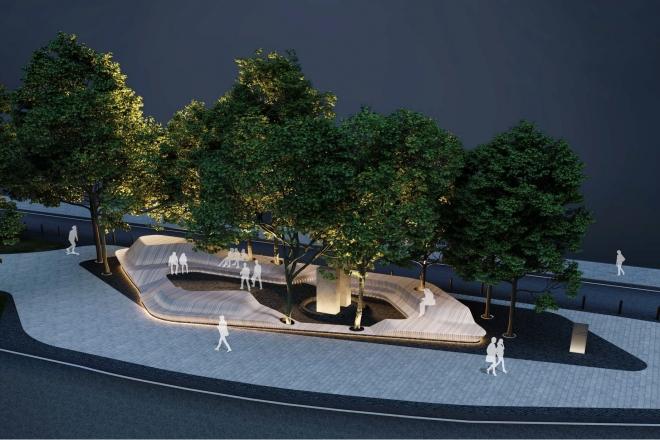 У Литовському сквері встановлять лаву-терасу з підсвічуванням (ФОТО)