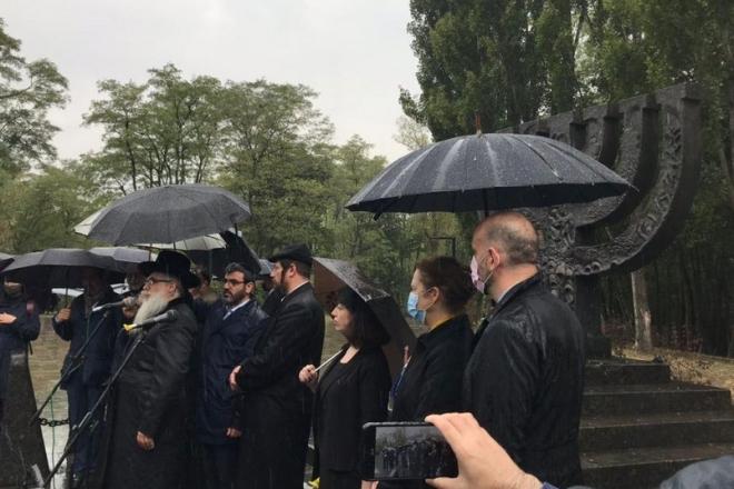 Дорогою смерті: В Бабиному Яру проходить церемонія вшанування загиблих
