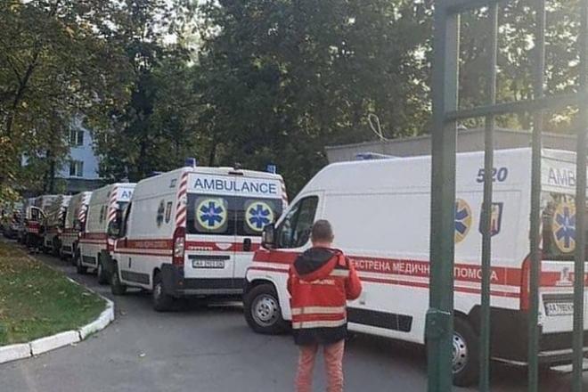 10 жовтня була рекордна кількість виїздів бригад екстреної допомоги і госпіталізацій