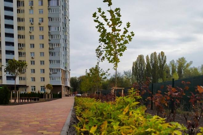 Зручний для дітей та домашніх улюбленців: На Глушкова відкрили новий сквер (ФОТО)