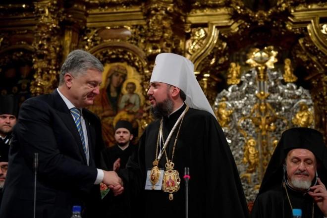 Петро Порошенко привітав Митрополита Епіфанія з річницею Інтронізації